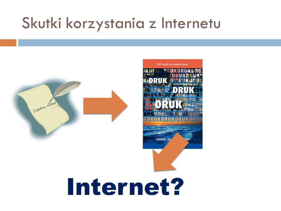 Skutki korzystania z Internetu Internet?