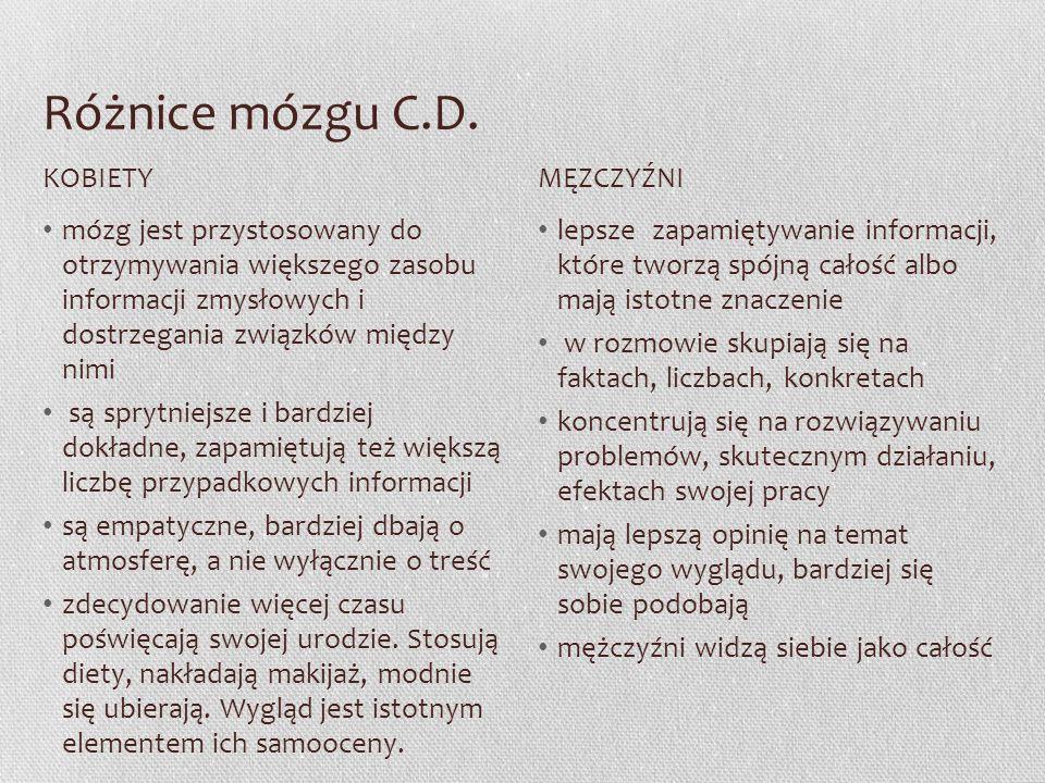 Różnice mózgu C.D.
