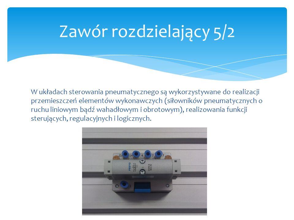 Zawór rozdzielający 5/2 W układach sterowania pneumatycznego są wykorzystywane do realizacji przemieszczeń elementów wykonawczych (siłowników pneumaty