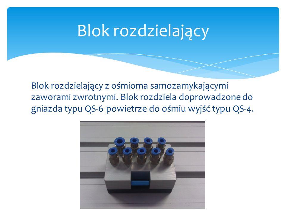 Modele bloku wykonane w programie Solid Edge Blok rozdzielający
