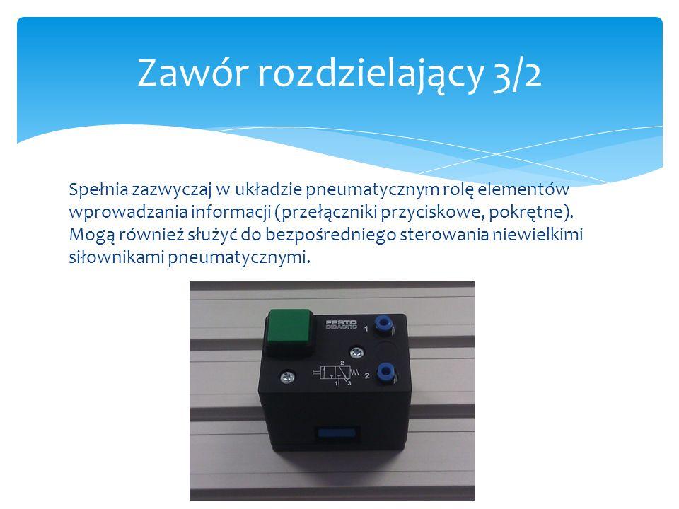 Spełnia zazwyczaj w układzie pneumatycznym rolę elementów wprowadzania informacji (przełączniki przyciskowe, pokrętne). Mogą również służyć do bezpośr