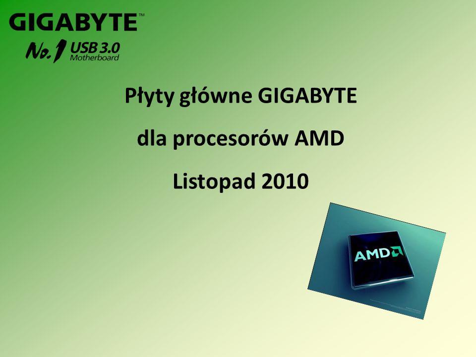 ModelGA-MA770T-UD3 ChipsetAMD 770 + SB710 Szyna systemowa 5200 MHz Pamięć Dwa kanały 4 DIMM DDR3 (1666+)/1333/1066 Złącze graficzne PCI Express x16(x16) 2.0 SATA & RAID 6 SATA 2 + 1 PATA, RAID(0, 1, 0+1, JBOD) AudioALC888 Fazy zasilania 4 + 1 Ważniejsze technologie Easy Energy Saver, DUAL BIOS Specyfikacja GA-MA770T-UD3 NAGRODY
