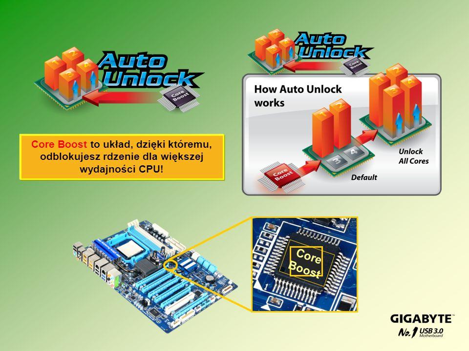 Core Boost Core Boost to układ, dzięki któremu, odblokujesz rdzenie dla większej wydajności CPU!