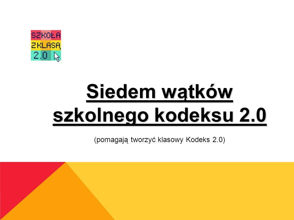 Siedem wątków szkolnego kodeksu 2.0 (pomagają tworzyć klasowy Kodeks 2.0)