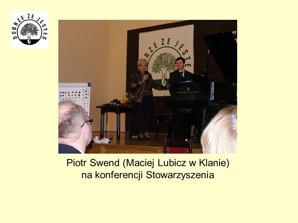 Piotr Swend (Maciej Lubicz w Klanie) na konferencji Stowarzyszenia