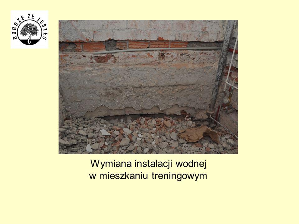 Wymiana instalacji wodnej w mieszkaniu treningowym
