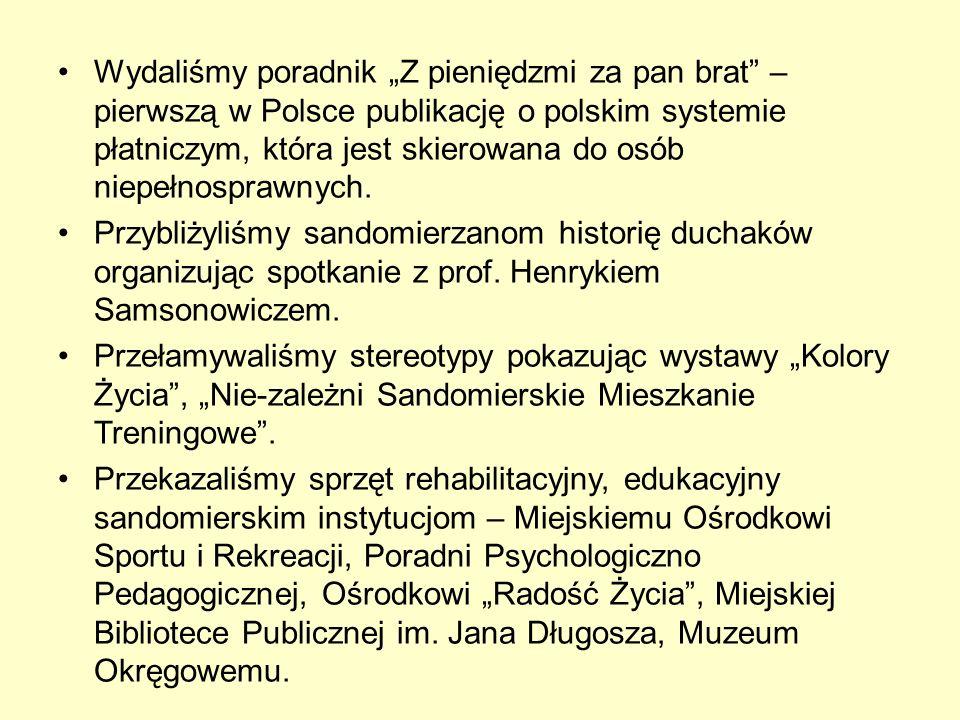 Wydaliśmy poradnik Z pieniędzmi za pan brat – pierwszą w Polsce publikację o polskim systemie płatniczym, która jest skierowana do osób niepełnosprawnych.