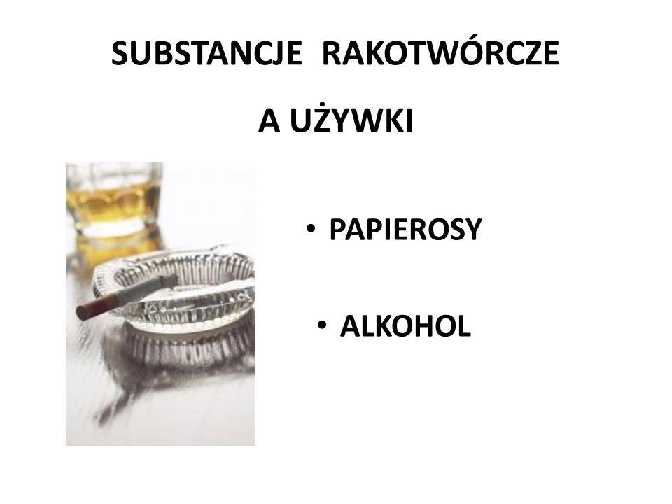 SUBSTANCJE RAKOTWÓRCZE A UŻYWKI PAPIEROSY ALKOHOL