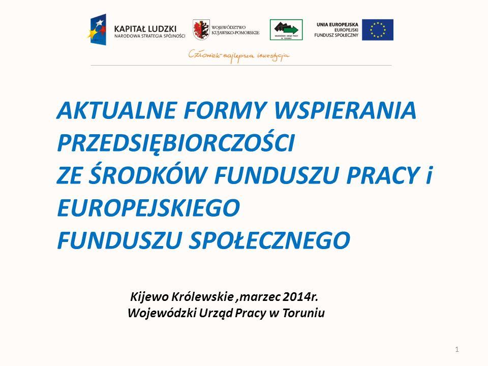 Nowe formy wspierania przedsiębiorczości zaplanowane w projekcie Ustawy o promocji zatrudnienia i instytucjach rynku pracy z dnia 2 września 2013 r.