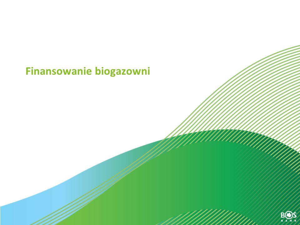Slajd 27 z 30 Finansowanie biogazowni