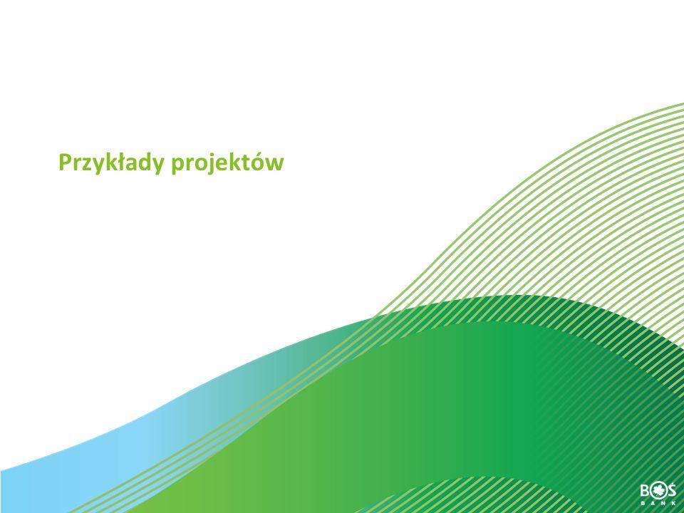 Slajd 17 z 30 Kredyt z Dobrą Energią Kredyty inwestycyjne i obrotowe na instalacje OZE Struktura organizacyjna kredytobiorcy Projekt – realizowany przez spółkę celową (SPV), powołaną przez inwestorów w celu zrealizowania i eksploatacji inwestycji Powołanie odrębnego podmiotu prowadzącego projekt ma na celu zapewnienie przejrzystości przepływów finansowych w okresie finansowania i w okresie spłaty kredytu.