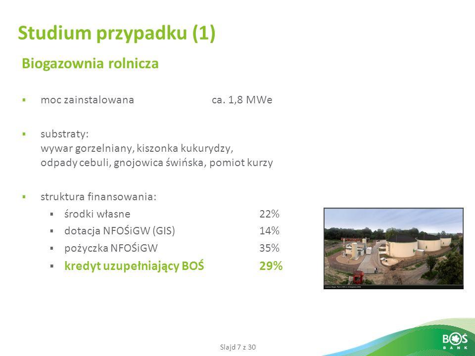 Slajd 7 z 30 Biogazownia rolnicza moc zainstalowanaca.