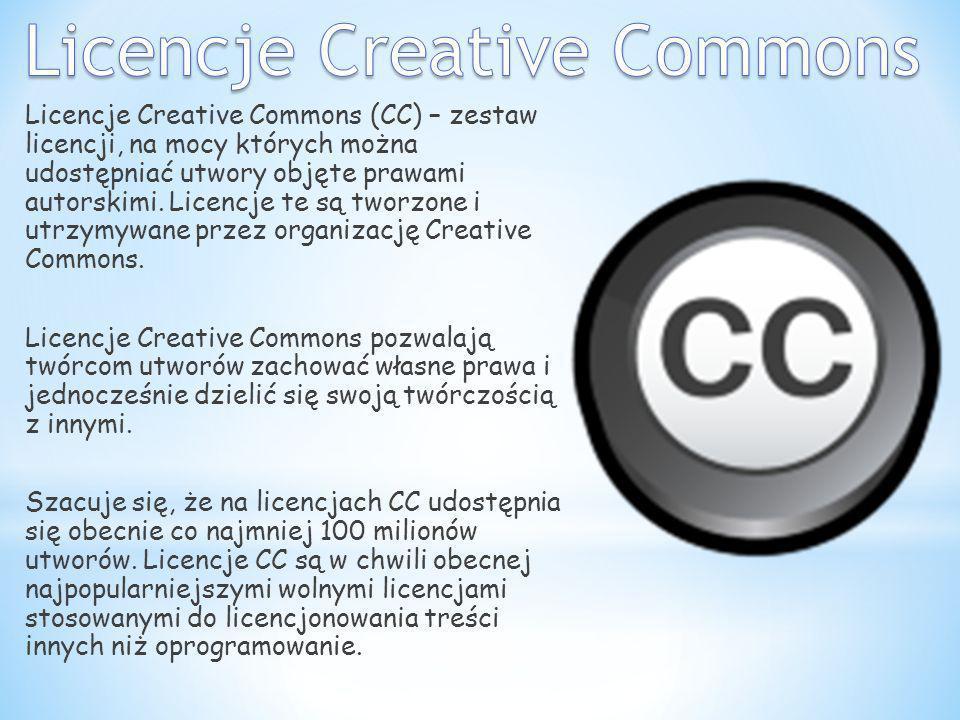 Licencje Creative Commons (CC) – zestaw licencji, na mocy których można udostępniać utwory objęte prawami autorskimi. Licencje te są tworzone i utrzym