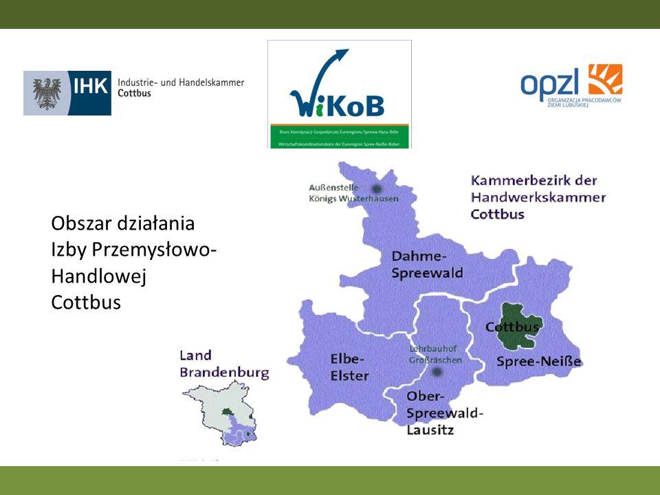 Obszar działania Izby Przemysłowo- Handlowej Cottbus
