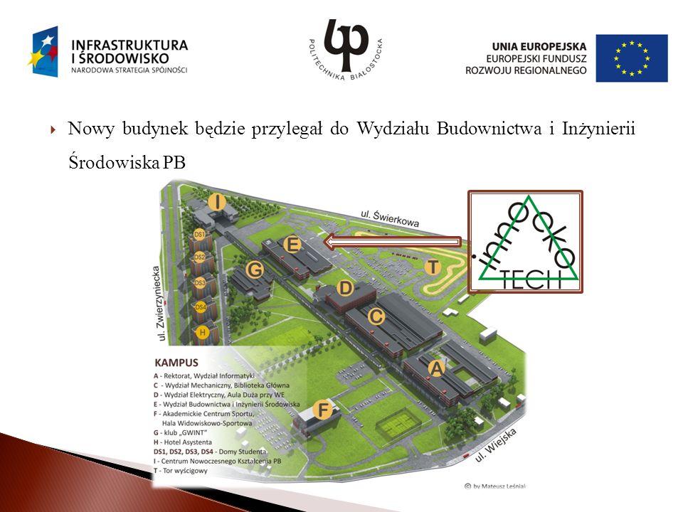 Nowy budynek będzie przylegał do Wydziału Budownictwa i Inżynierii Środowiska PB