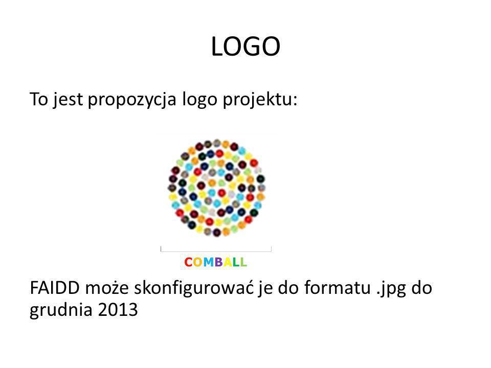 LOGO To jest propozycja logo projektu: FAIDD może skonfigurować je do formatu.jpg do grudnia 2013