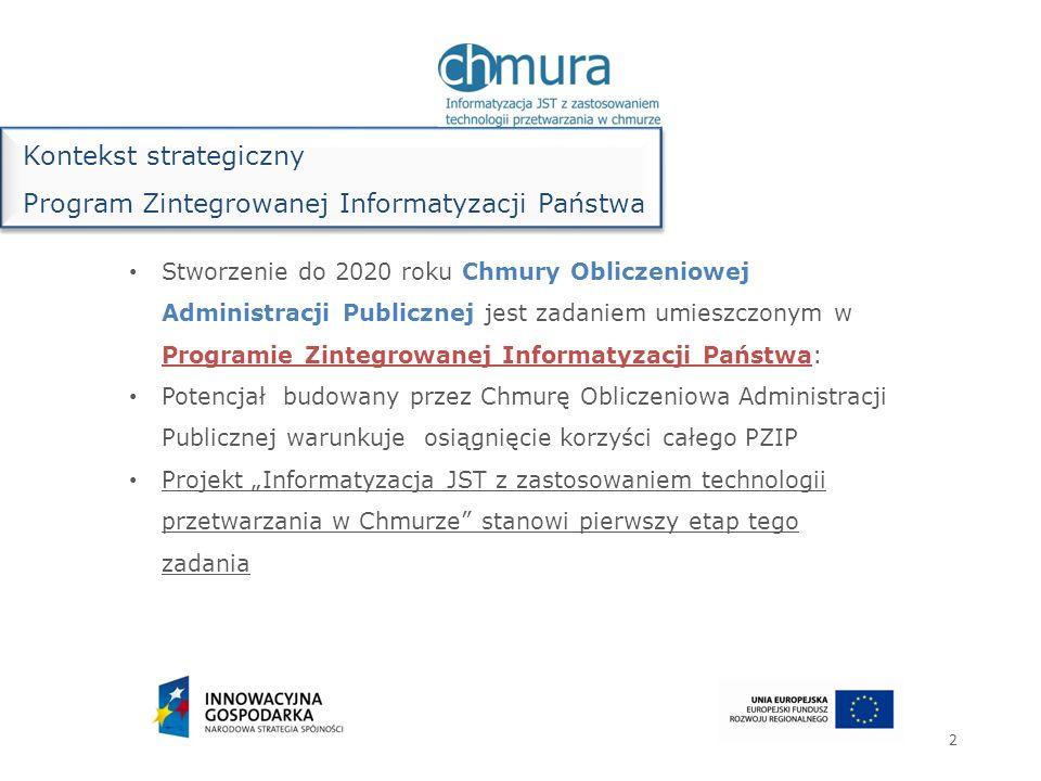 Stworzenie do 2020 roku Chmury Obliczeniowej Administracji Publicznej jest zadaniem umieszczonym w Programie Zintegrowanej Informatyzacji Państwa: Pot
