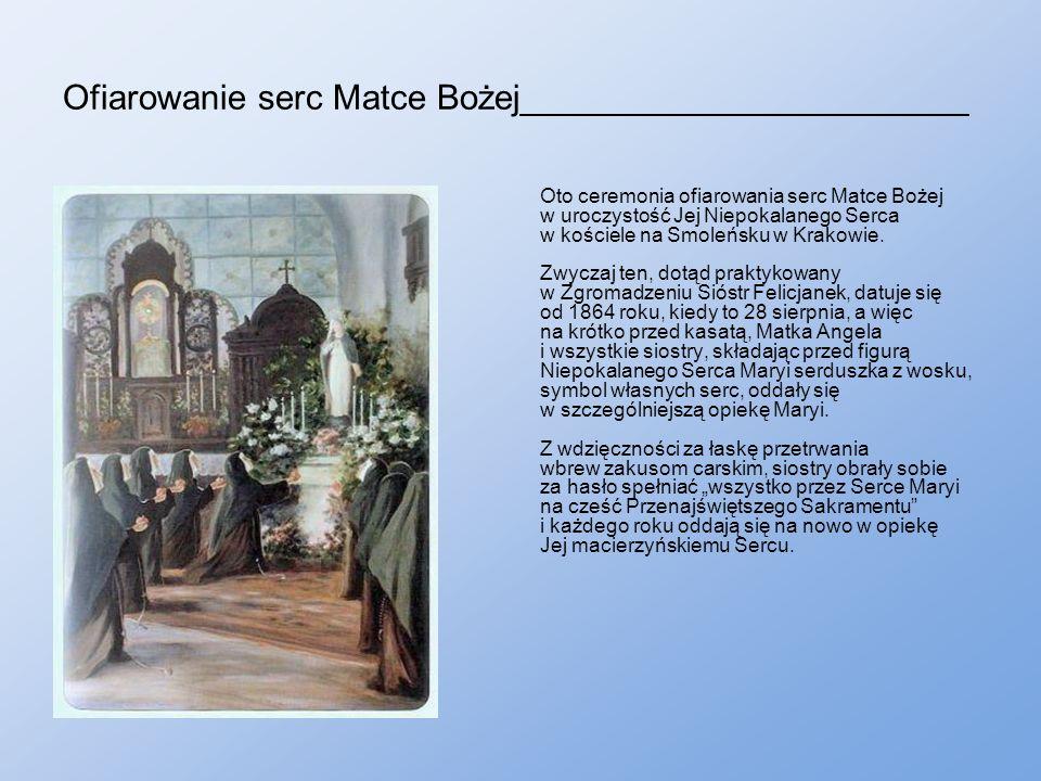 Ofiarowanie serc Matce Bożej_______________________ Oto ceremonia ofiarowania serc Matce Bożej w uroczystość Jej Niepokalanego Serca w kościele na Smoleńsku w Krakowie.