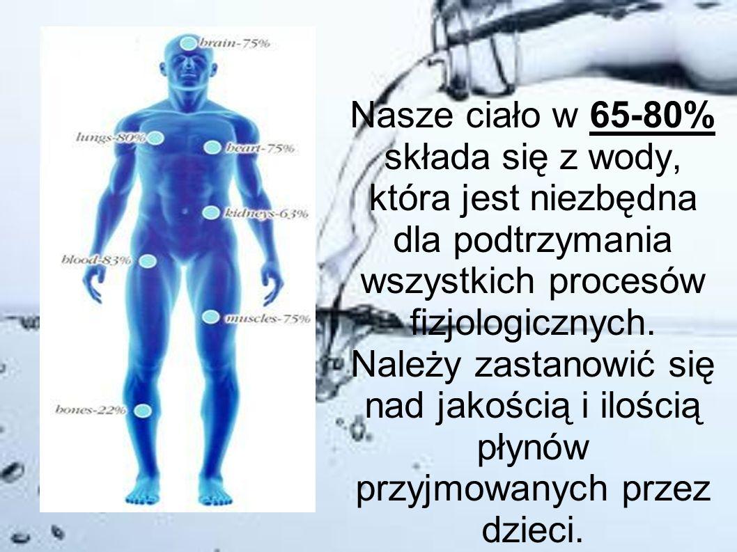 Nasze ciało w 65-80% składa się z wody, która jest niezbędna dla podtrzymania wszystkich procesów fizjologicznych. Należy zastanowić się nad jakością