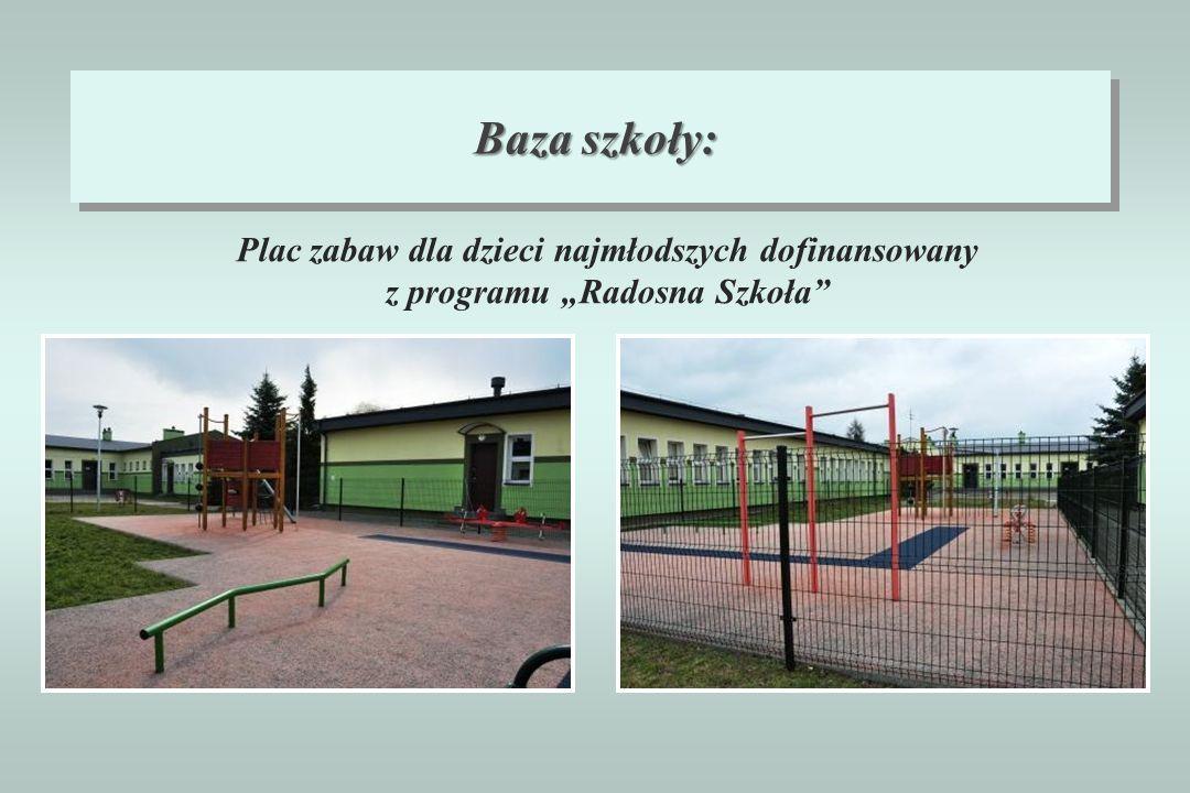 Baza szkoły: Plac zabaw dla dzieci najmłodszych dofinansowany z programu Radosna Szkoła
