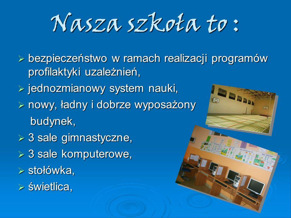 Nasza szkoła to : bezpieczeństwo w ramach realizacji programów profilaktyki uzależnień, bezpieczeństwo w ramach realizacji programów profilaktyki uzal