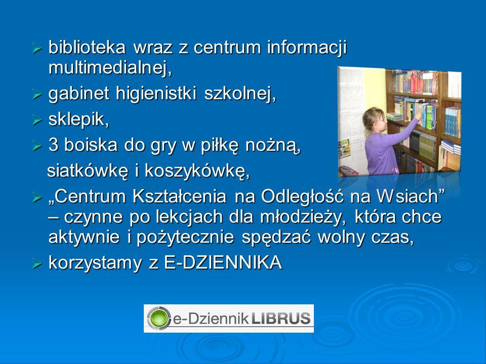 biblioteka wraz z centrum informacji multimedialnej, biblioteka wraz z centrum informacji multimedialnej, gabinet higienistki szkolnej, gabinet higien