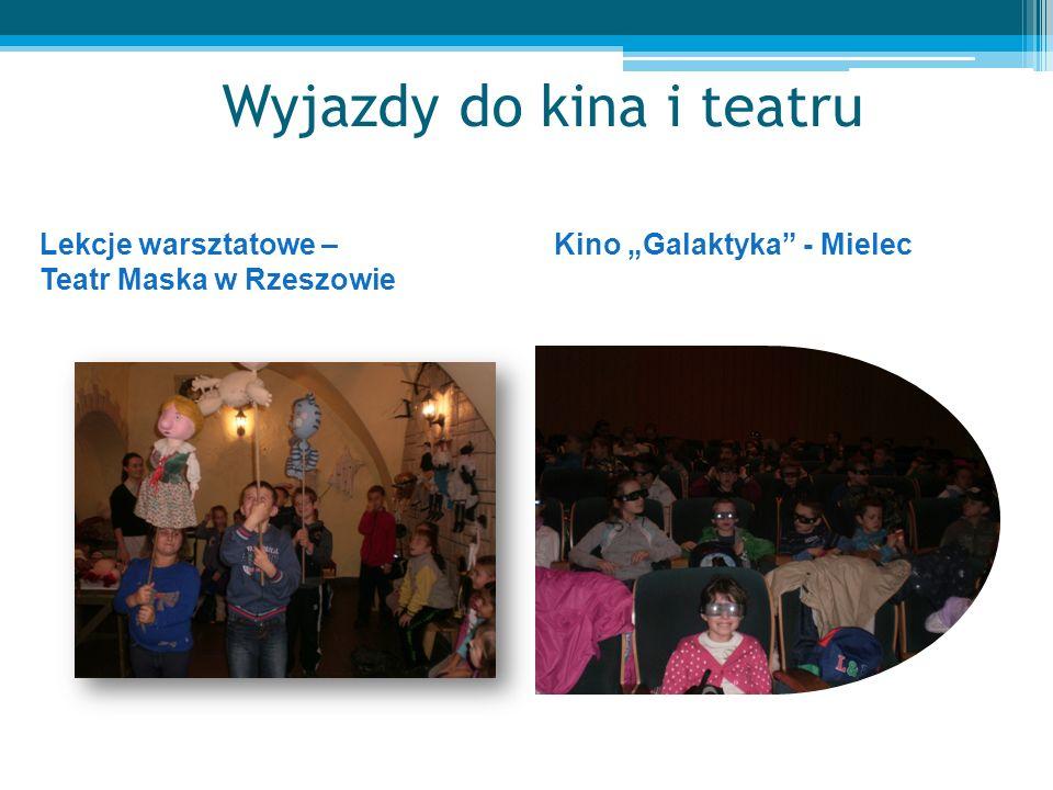 Wyjazdy do kina i teatru Lekcje warsztatowe – Teatr Maska w Rzeszowie Kino Galaktyka - Mielec