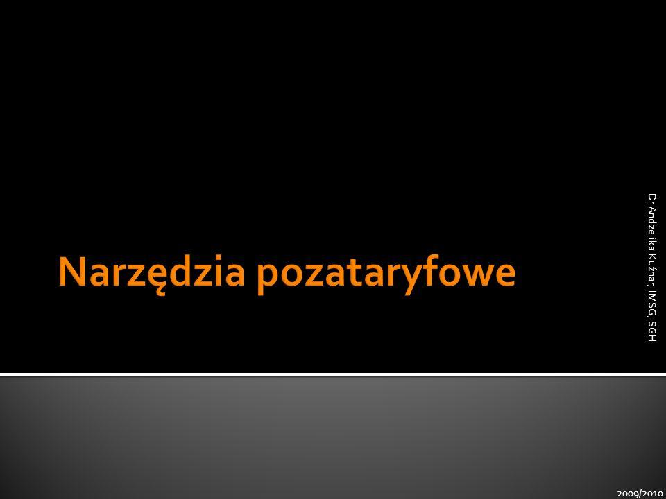 2009/2010 Dr Andżelika Kuźnar, IMSG, SGH