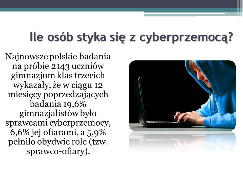 Dlaczego cyberprzemoc jest taka groźna? Osoby, które doświadczają cyberprzemocy ze strony innych, często czują się osamotnione i cierpią. Cyberprzemoc