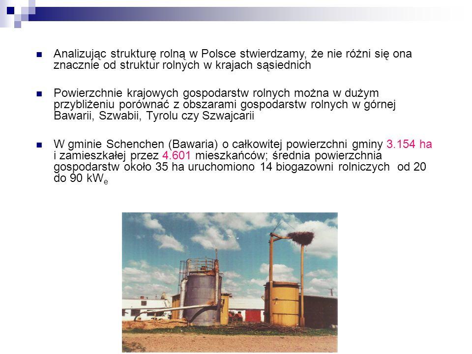 Analizując strukturę rolną w Polsce stwierdzamy, że nie różni się ona znacznie od struktur rolnych w krajach sąsiednich Powierzchnie krajowych gospoda
