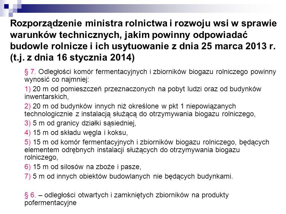 Rozporządzenie ministra rolnictwa i rozwoju wsi w sprawie warunków technicznych, jakim powinny odpowiadać budowle rolnicze i ich usytuowanie z dnia 25
