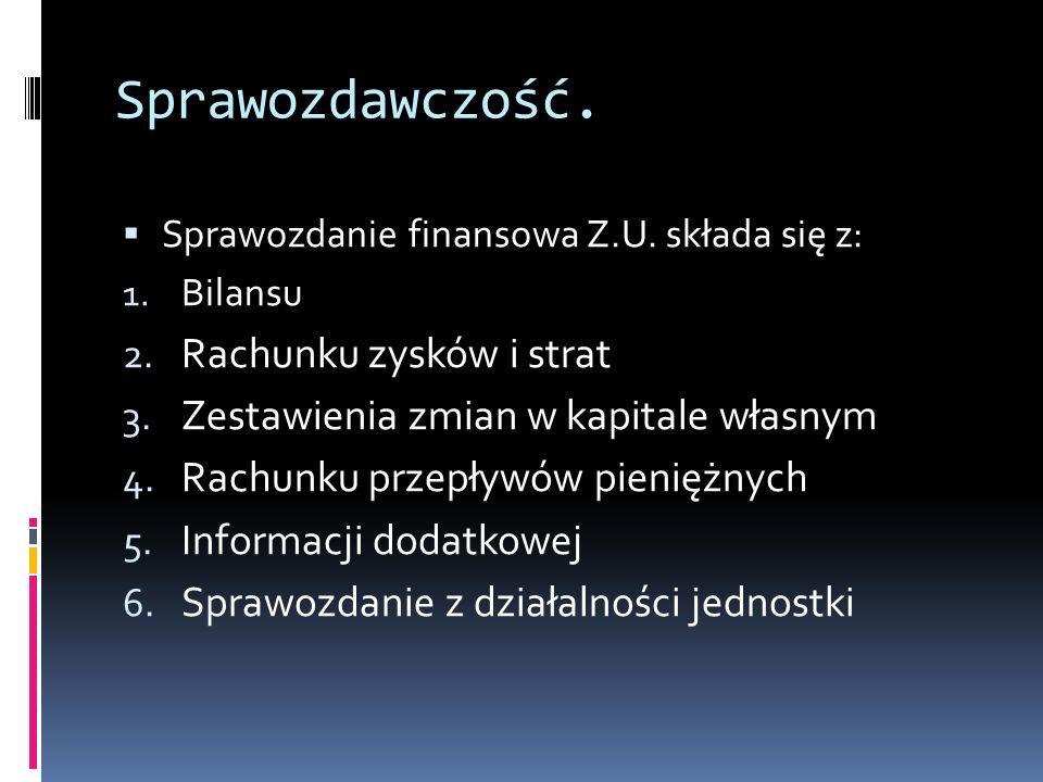 Sprawozdawczość.Rozporządzenie Ministra Finansów z 2010r.