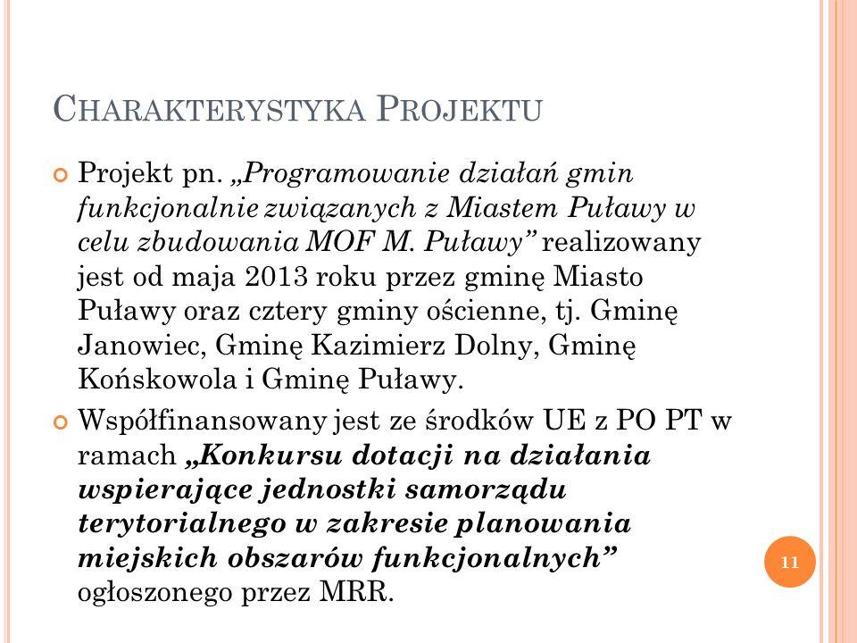 E TAPY REALIZACJI P ROJEKTU Źródło: Diagnoza Miejskiego Obszaru Funkcjonalnego Miasta Puławy 12