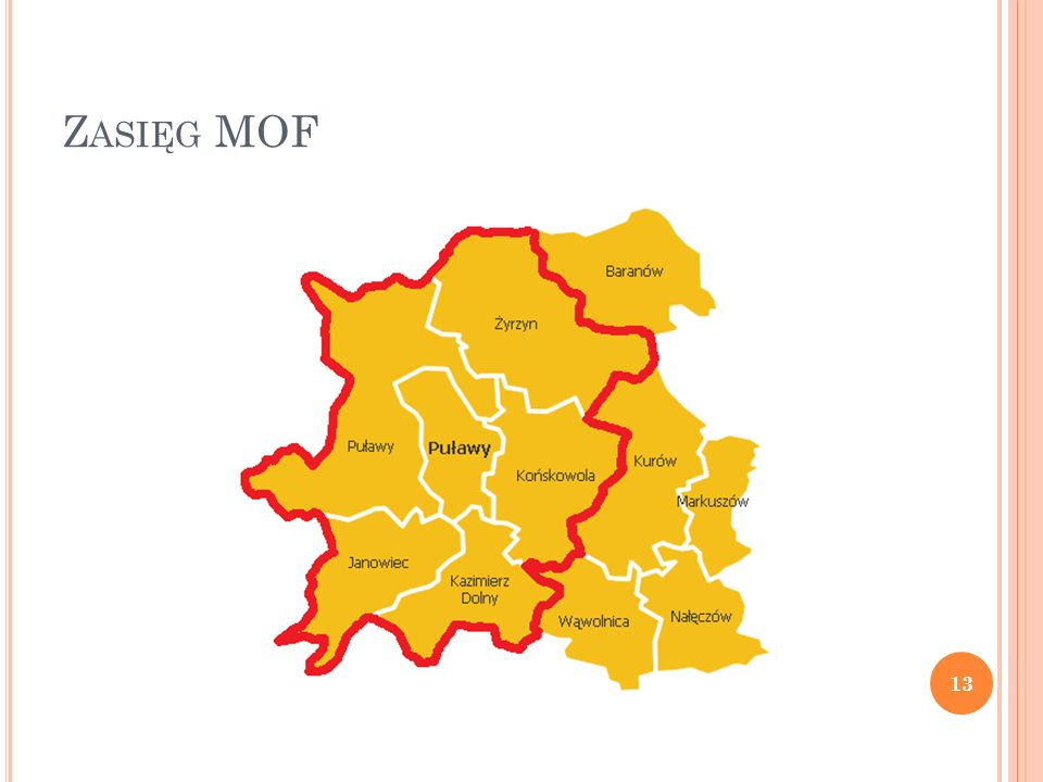 Z ASIĘG MOF A OBSZAR FAKTYCZNEGO ODDZIAŁYWANIA P UŁAW 14 Źródło: http://www.pulawy.powiat.pl/strona/index.php/mapahttp://www.pulawy.powiat.pl/strona/index.php/mapa