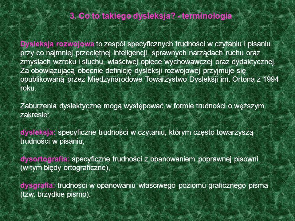 2. Klasyfikacje międzynarodowe a dysleksja Specyficzne trudności w czytaniu i pisaniu zawarte są w dwóch międzynarodowych klasyfikacjach medycznych, o