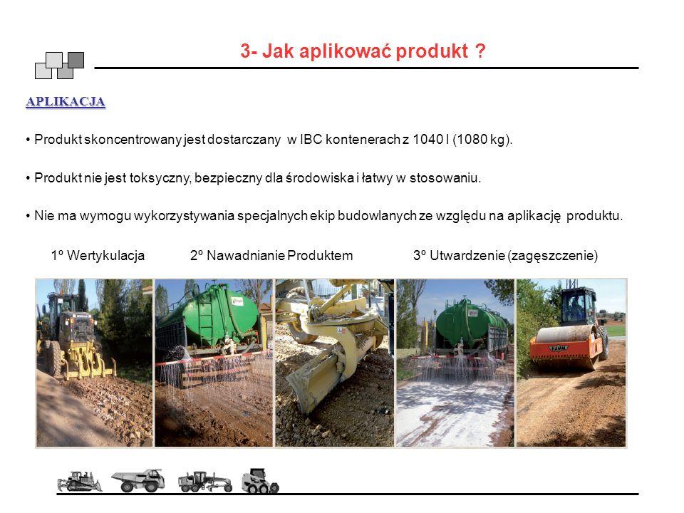 3- Jak aplikować produkt ? APLIKACJA Produkt skoncentrowany jest dostarczany w IBC kontenerach z 1040 l (1080 kg). Produkt nie jest toksyczny, bezpiec