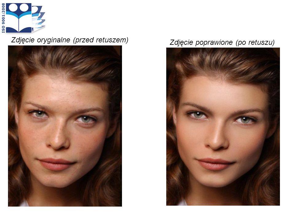 Zdjęcie oryginalne (przed retuszem) Zdjęcie poprawione (po retuszu)