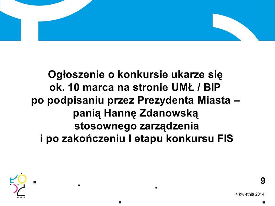 4 kwietnia 2014 10 Wszelkie pytania w tej sprawie proszę kierować na adres: h.markiewicz@uml.lodz.pl Dziękuję Państwu za uwagę.