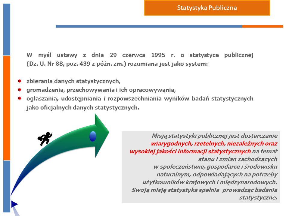 W myśl ustawy z dnia 29 czerwca 1995 r.o statystyce publicznej (Dz.