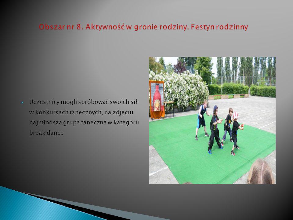 Uczestnicy mogli spróbować swoich sił w konkursach tanecznych, na zdjęciu najmłodsza grupa taneczna w kategorii break dance