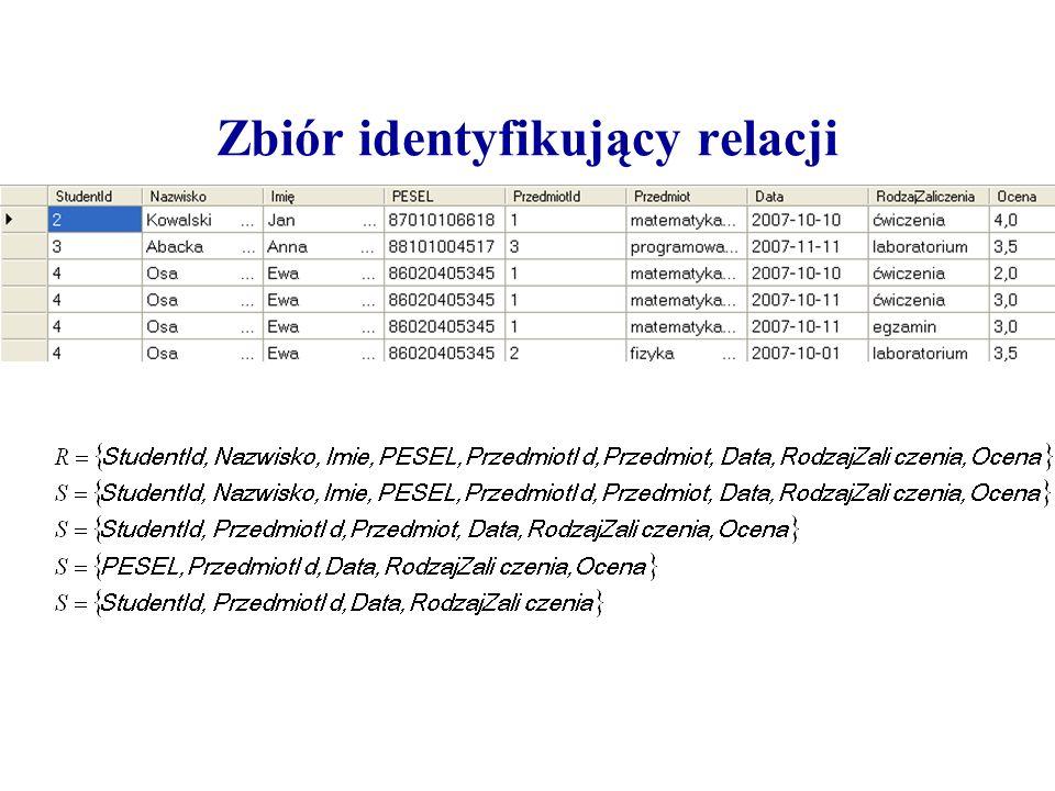 Zbiór identyfikujący relacji