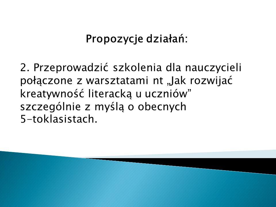 Propozycje działań: 2.