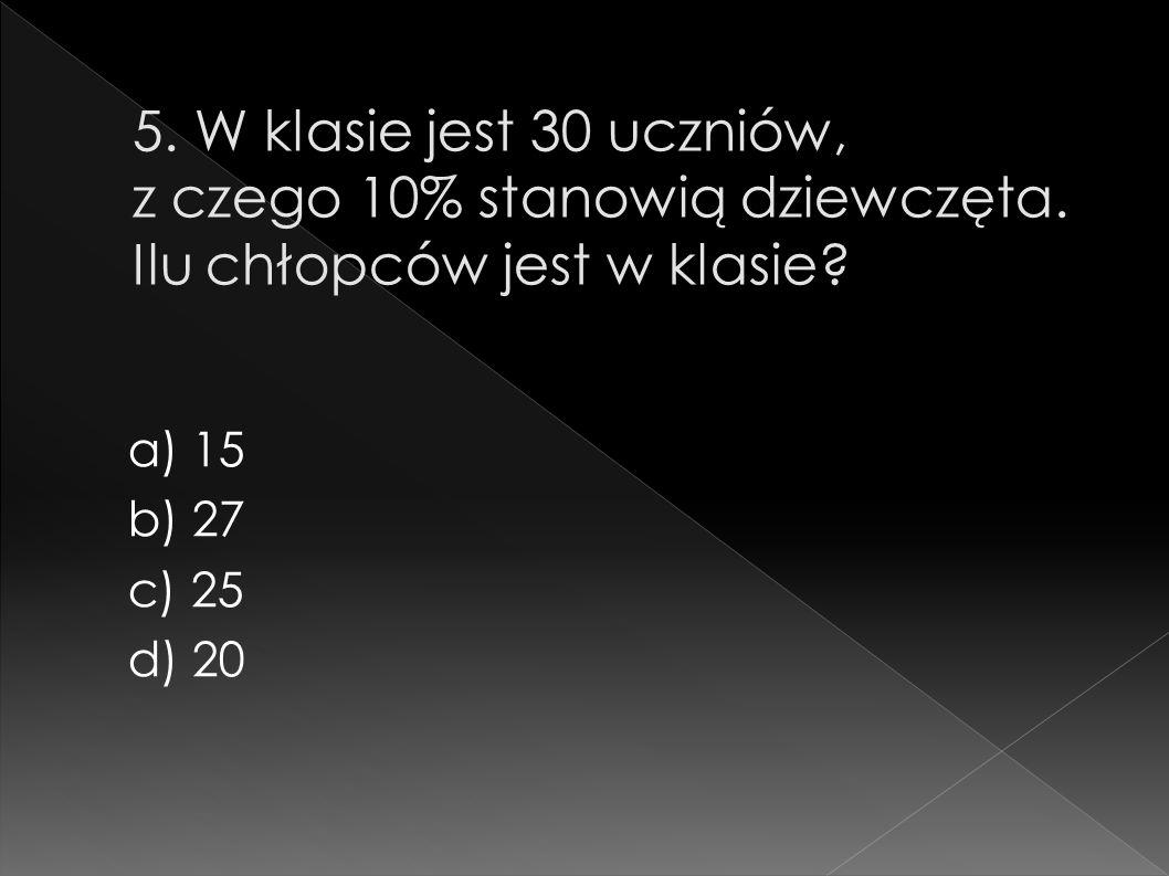 a) 15 b) 27 c) 25 d) 20