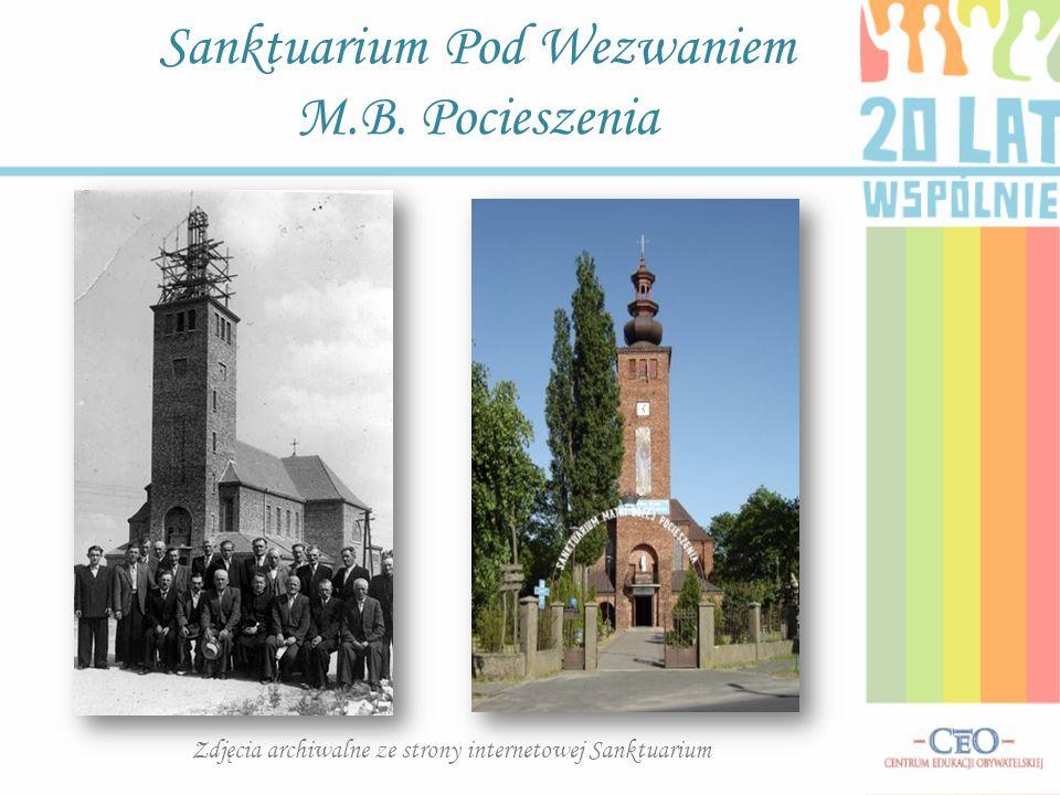 Sanktuarium Pod Wezwaniem M.B. Pocieszenia Zdjęcia archiwalne ze strony internetowej Sanktuarium