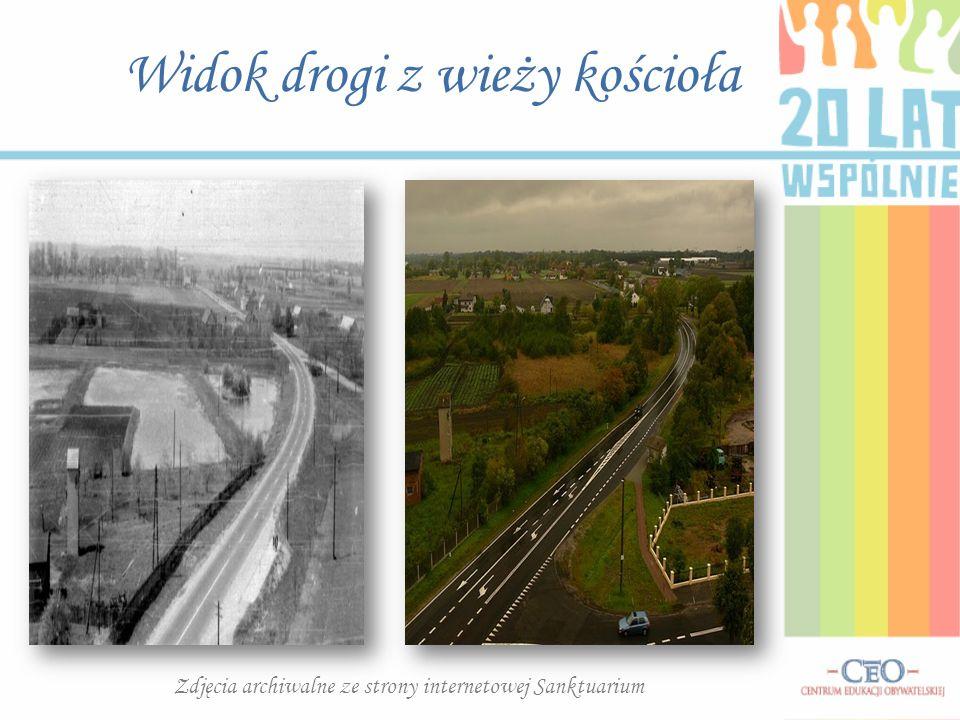 Widok drogi z wieży kościoła Zdjęcia archiwalne ze strony internetowej Sanktuarium