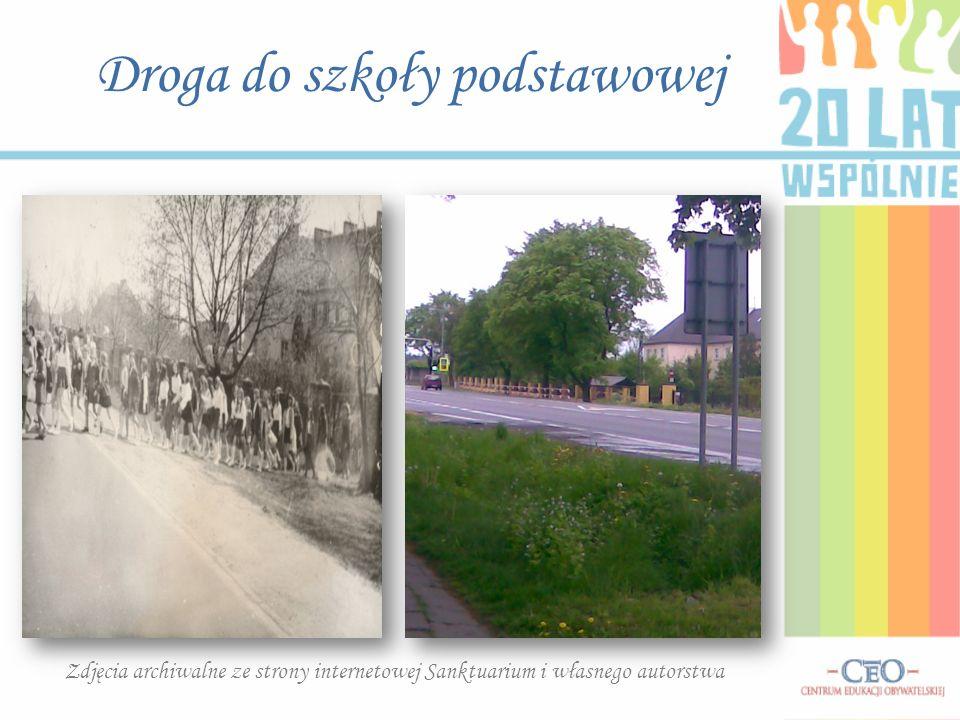Droga do szkoły podstawowej Zdjęcia archiwalne ze strony internetowej Sanktuarium i własnego autorstwa