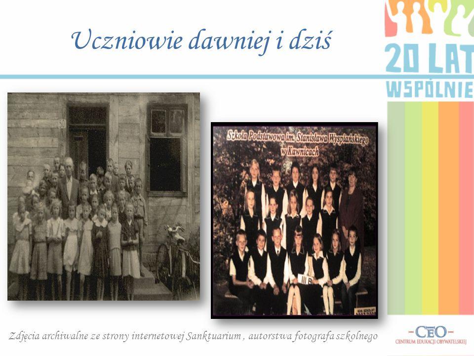 Uczniowie dawniej i dziś Zdjęcia archiwalne ze strony internetowej Sanktuarium, autorstwa fotografa szkolnego