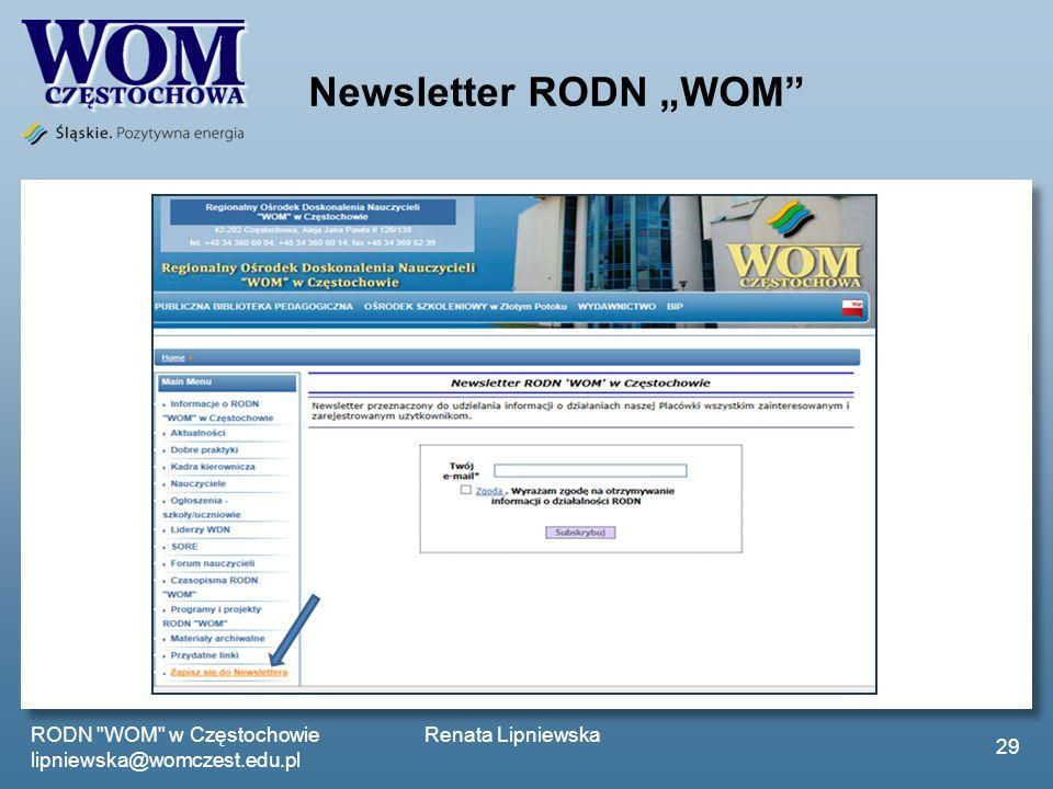 Newsletter RODN WOM RODN