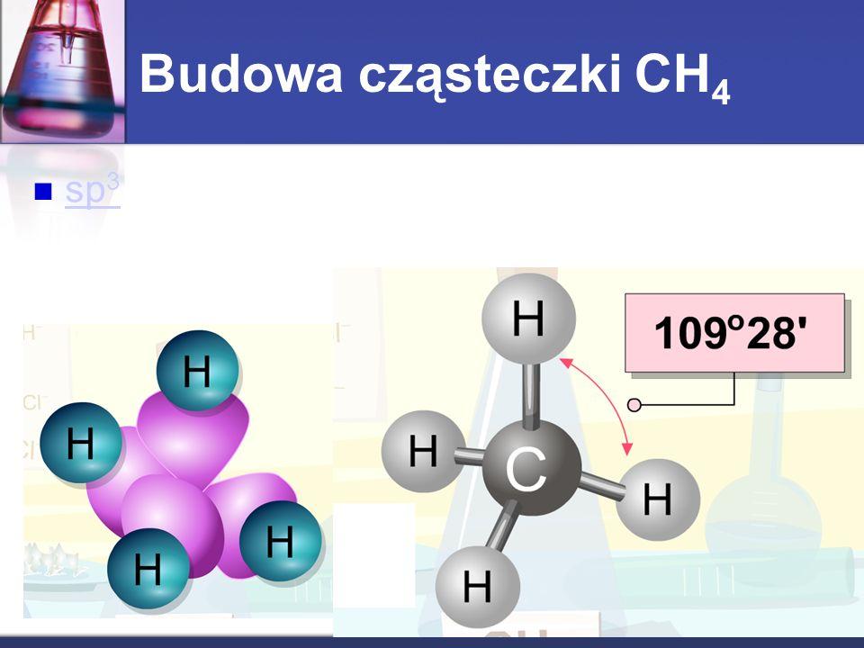 sp 3 sp 3 Budowa cząsteczki CH 4