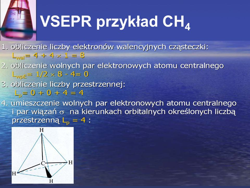 VSEPR przykład CH 4